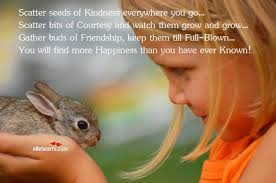 Kind Little Girl with Rabbit